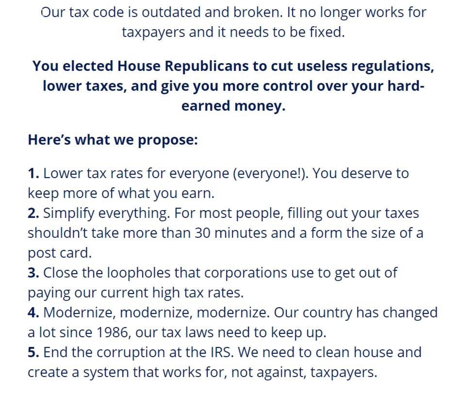 Paul Ryan Tax changes