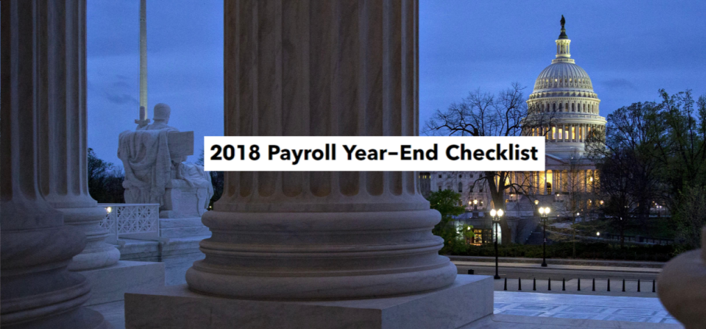 2018 Year-End Payroll To Do List