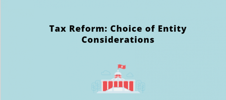 The Impact of Tax Reform on Choice of Business Entity Selection