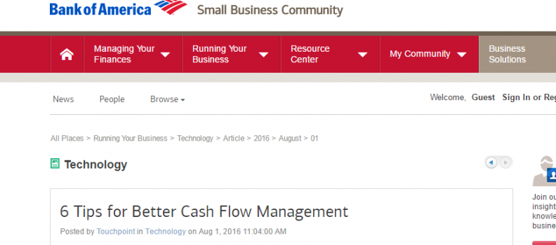 6 Tips for Better Cash Flow Management Bank of America press