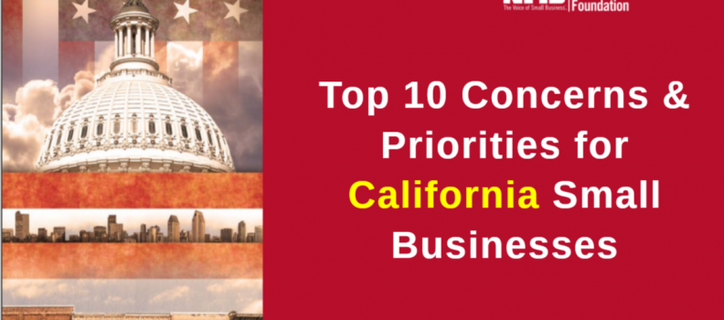 Top 10 Problems & Concerns for California Small Businesses