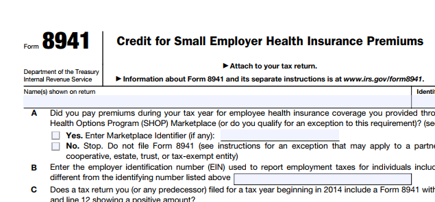 form-8941-Small-Business-Health-Care-Tax-Credit
