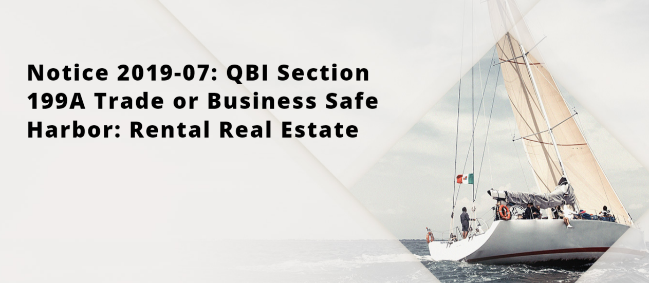 Treasury Gives Rental Real Estate Investors Safe Harbor for Qualified Business Income Deduction