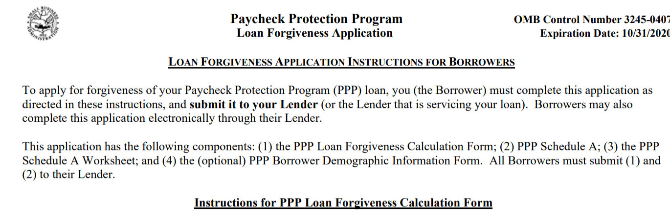 New SBA Loan Forgiveness Application & Treasury Guidance FAQs, & Safe Harbor for PPP Loans