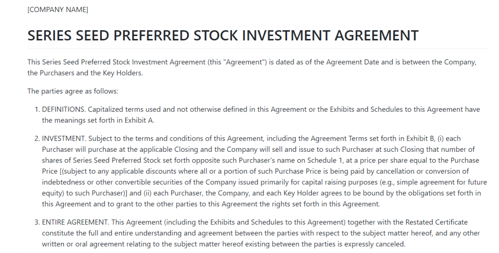 series-seed-preferred-stock-investment-agreement